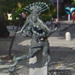 Mermaid sculpture (StreetView)