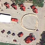 Case tractor display at the Racine County Fair (Google Maps)