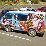 Roy Lichtenstein mural on a van