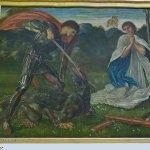 """The fight: St George kills the dragon VI"" by Edward Coley Burne-Jones"