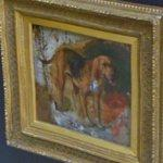 """Study of a bloodhound"" by Holman Hunt"
