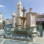 Muristan Fountain & Church of the Redeemer bell tower (StreetView)