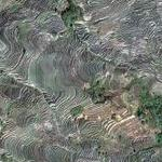 World's largest terraced paddy fields (Google Maps)