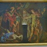 """Mucius Scaevola in the presence of Lars Porsenna"" by Matthias Stomer"