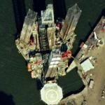 Drilling Rig ENSCO 92 (Google Maps)