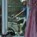 Google trike driver reflection
