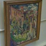 """The garden and tower of the sacristy, Cuenca Cathedral"" by David Bomberg"