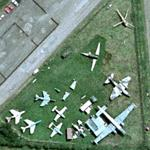 Collection of aircraft at RAF Long Marston (Google Maps)