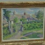"""Peasants' houses, Eragny"" by Camille Pissarro"