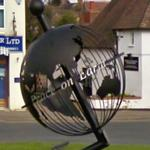 Globe in roundabout