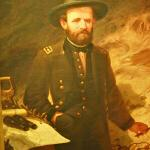 Painting of Ulysses S. Grant with a map (StreetView)