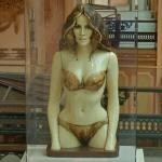 Statue of a woman in a bikini