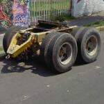 Dual tandem axle converter dolly
