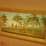 """""""Mr Robinson's house on the Derwent, Van Diemen's Land"""" by John Glover"""