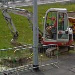 Backhoe in use (StreetView)