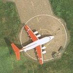 BAe 146 of the Royal Flight at RAF Northolt (Google Maps)