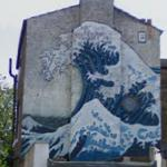 Hokusai Wave Mural