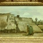 'A Peasant Woman Digging in Front of Her Cottage' by Vincent van Gogh