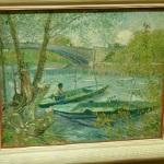 'Fishing in Spring, the Pont de Clichy (Asnières)' by Vincent van Gogh (StreetView)