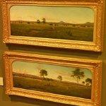 """View of the Gippsland Alps, from Bushy Park on the River Avon"" by Eugene Von Guerard (StreetView)"