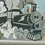 Railroad mural