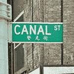 Bilingual Street Sign