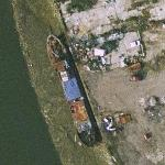 A Ship being scrapped(?) on river Medway (Google Maps)