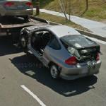 Crashed car (StreetView)