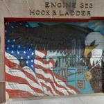Americn flag mural