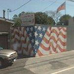 American flag mural by Scott LoBaido (StreetView)