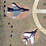 F-84 Thunderflash and F-4 Phantom (Google Maps)