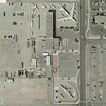 B-29, B-52B, and F-105 on static display (Google Maps)