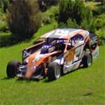 Dirt-track modified race car