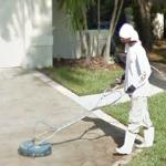 Pressure Cleaning the Driveway (StreetView)