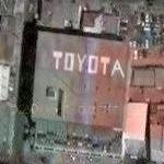 Toyota sign on roof
