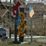 'Atilt, Sundra and Garden Gate' by Mel Katz (StreetView)