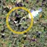 Airplane (F-15) in flight (Google Maps)