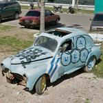 'La Celeste Olímpica' car