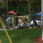 Filming of TV show 'Burn Notice' (StreetView)