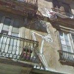 Skeletons on the wall (StreetView)