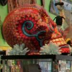 Mexican skull sculpture
