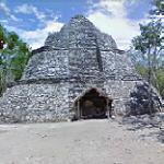 The Oval Temple at Coba (StreetView)