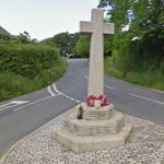 Lydford Village War Memorial Cross (StreetView)