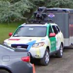 Google Car and tricycle trailer (StreetView)