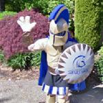 Mascot - Trinity Western Spartans (StreetView)