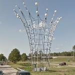 'Radiant Fountains' by Dennis Oppenheim (StreetView)