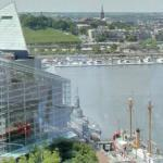 Skyscraper view of Baltimore's Inner Harbor (StreetView)