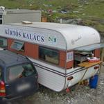 """Kürtős Kalács"" vendor by the Transfăgărăşan Highway (StreetView)"