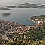 Scenic view of Hvar from the observatory