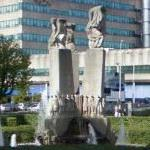 """Panta Rhei"" fountain (StreetView)"